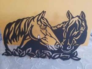Laser Cut Horse Duo Wall Art Hanging